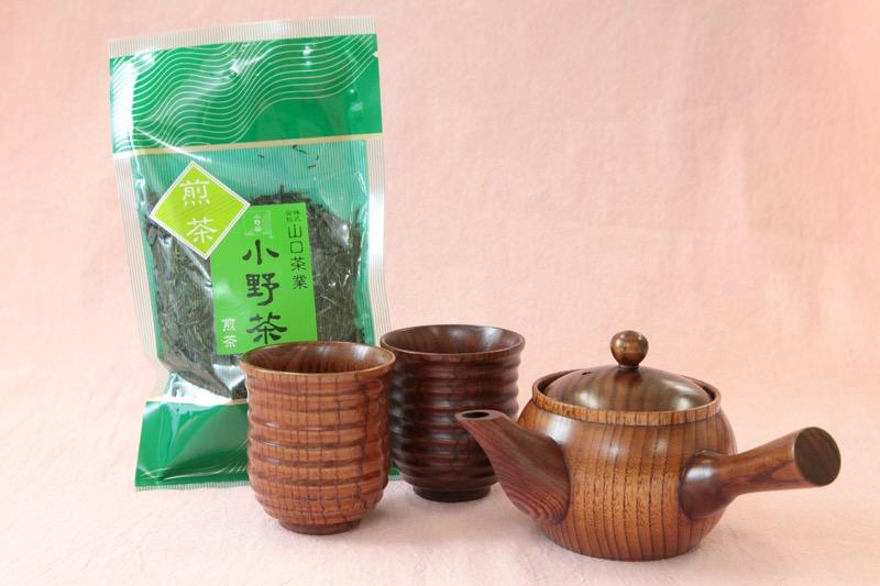 木茶器お茶セット01
