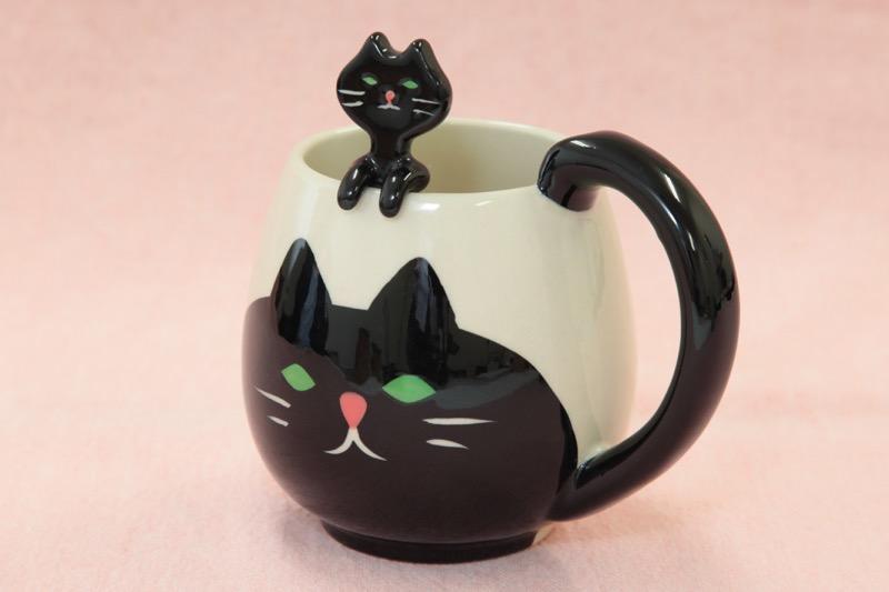 猫マグ スプーン付き01