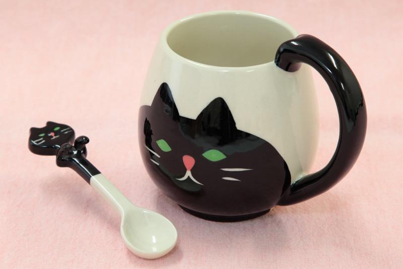 猫マグ スプーン付き02