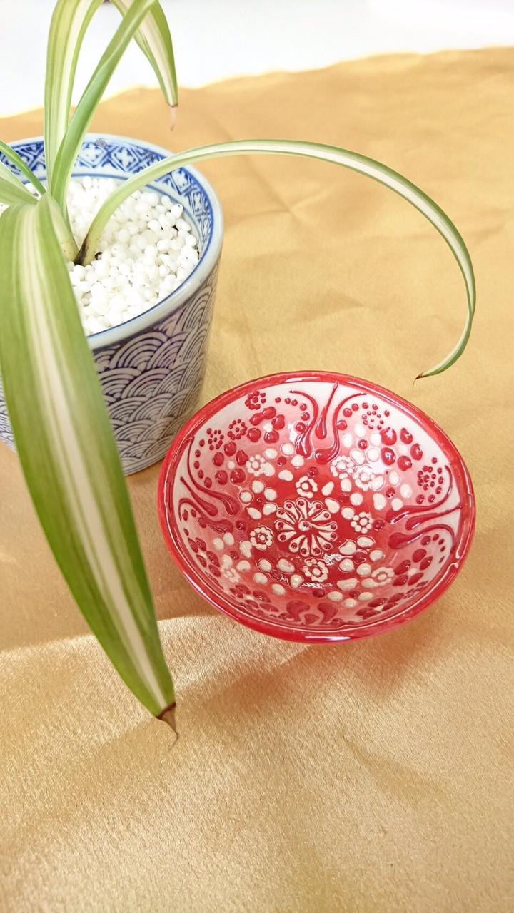 トルコ陶器 【赤】