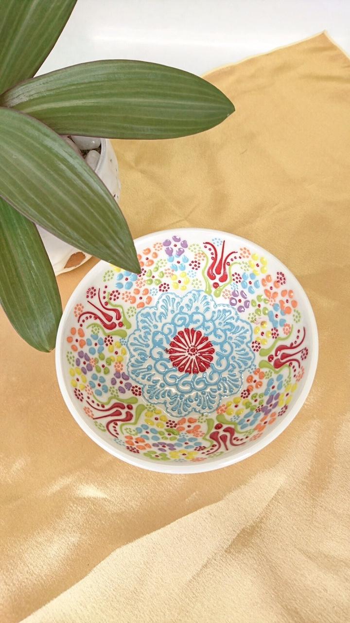 トルコ陶器 【白 大】