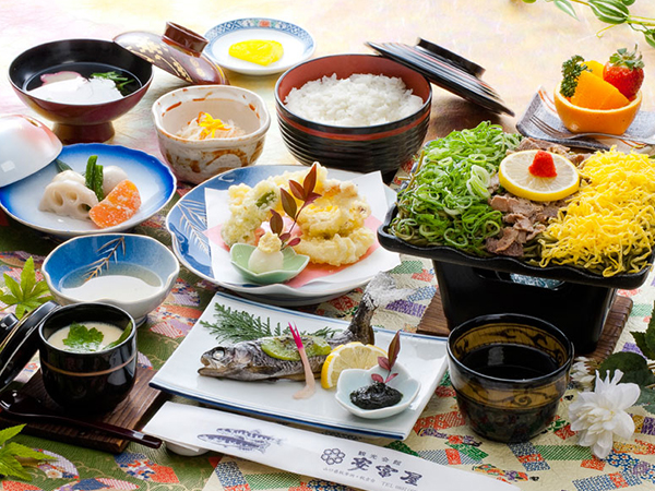 Kappa soba meal set