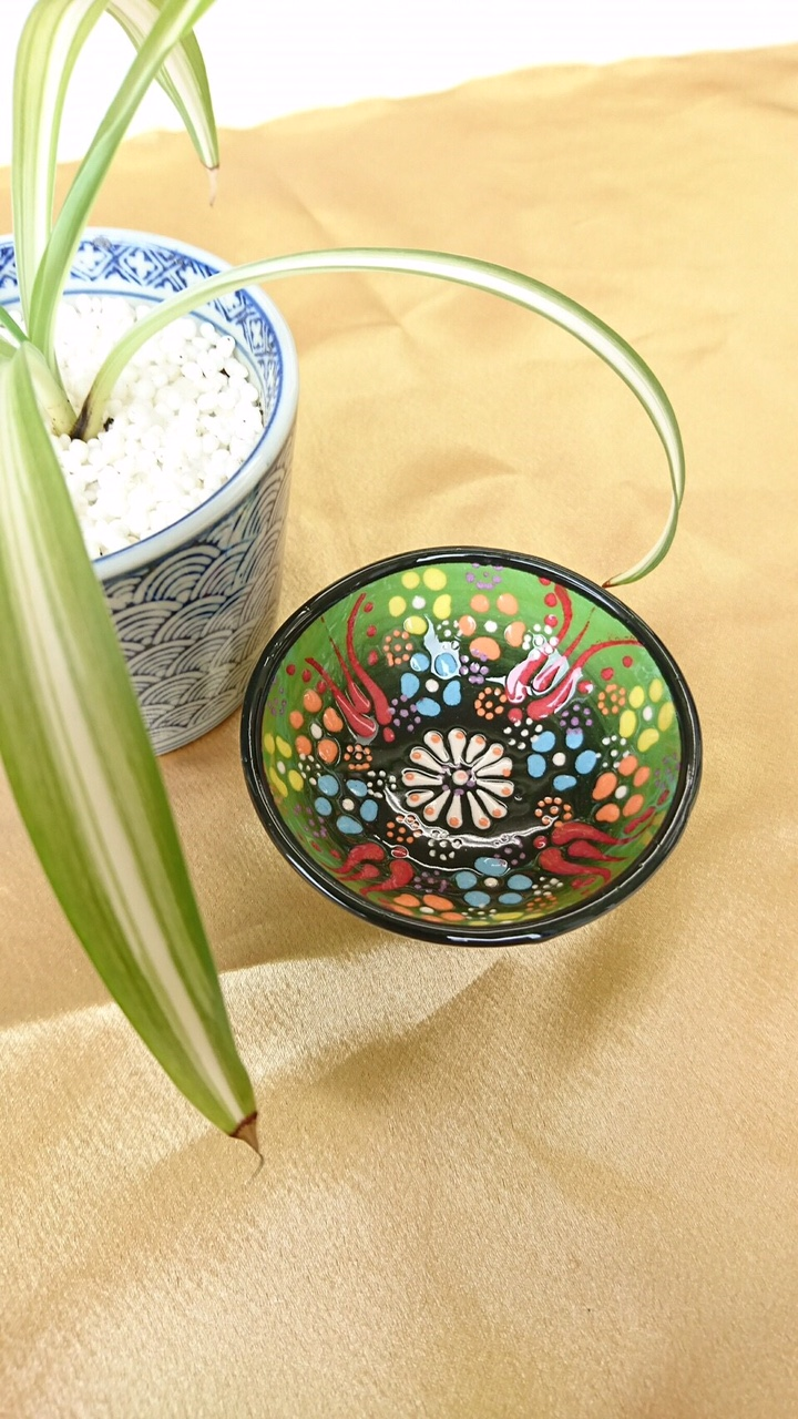 トルコ陶器 【緑】01
